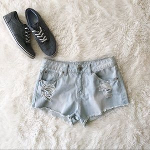 Rue21 bleached, distressed, cutoff jean shorts